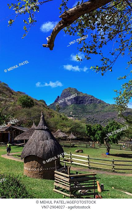 Petting farm at Casela Nature and Leisure Park, Cascavelle, Mauritius. Casela Nature and Leisure Park, also known as Casela World of Adventures