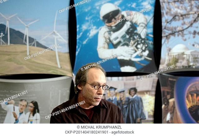 Lawrence M. Krauss, American theoretical physicist and cosmologist pictured during his lecture in Prague, Czech Republic on April 18, 2014