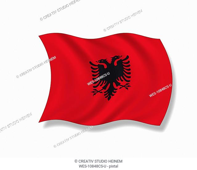 Illustration, Flag of Albania