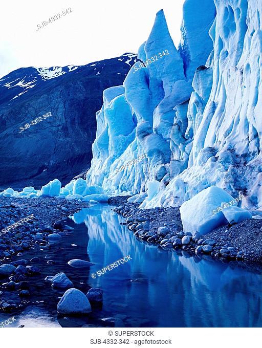 The Blue Ice of Riggs Glacier