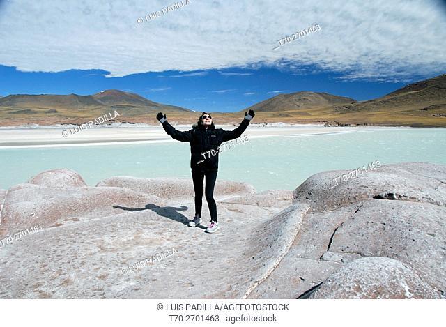 Chile, Atacama, salt hot water