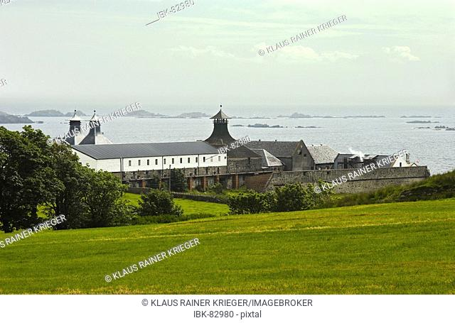 Ardbeg distillery with his typical three pagodes. Isle of Islay, Scotland