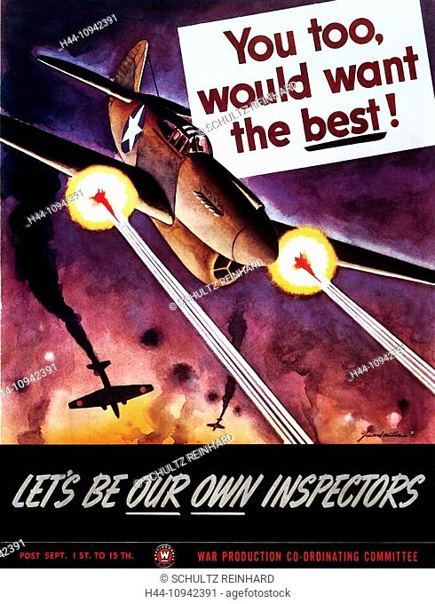World War II, Second World War, world war, war, poster, Propagana, propaganda poster, USA, American, warplane, air battle, aerial war, air war, Japanese