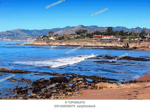 California, United States - Pacific coast view. Shell Beach in Pismo Beach township (San Luis Obispo county)