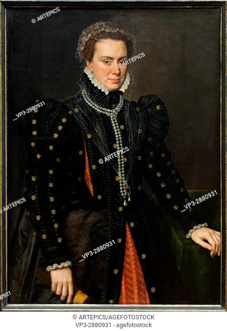 Anthonis Mor - Duchess Margaret of Parma - 1562 - XVI th Century - Flemish School - Gemäldegalerie - Berlin