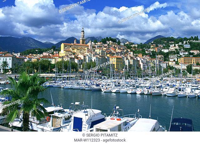 france, menton, harbour