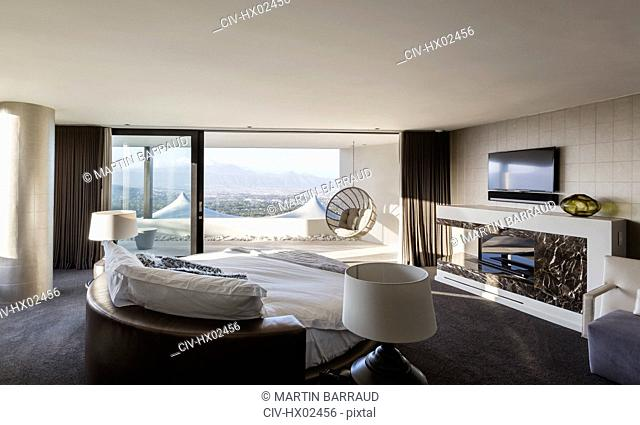 Modern luxury home showcase interior bedroom