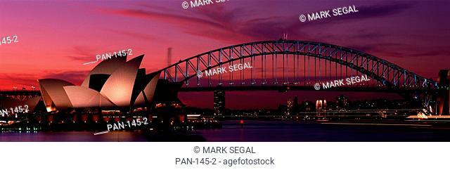 Harbor Bridge and Sydney Opera House, Sydney, Australia