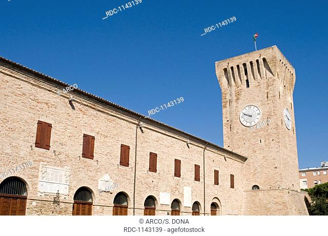 The Swabian castle (castello Svevo) of the fifteenth century, Porto Recanati (MC), Marche region, Italy