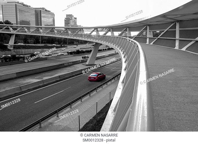 Bridge over the M 30 in Madrid