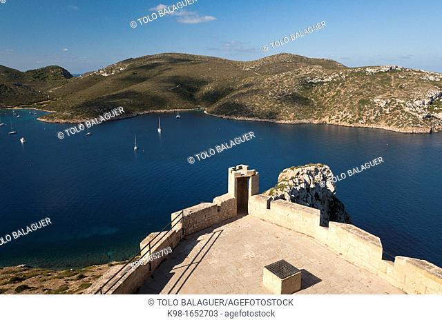 Spain Cabrera Archipelago National Park Castle Balearic Islands Puerto de Cabrera, Fourteenth Century, Es Port