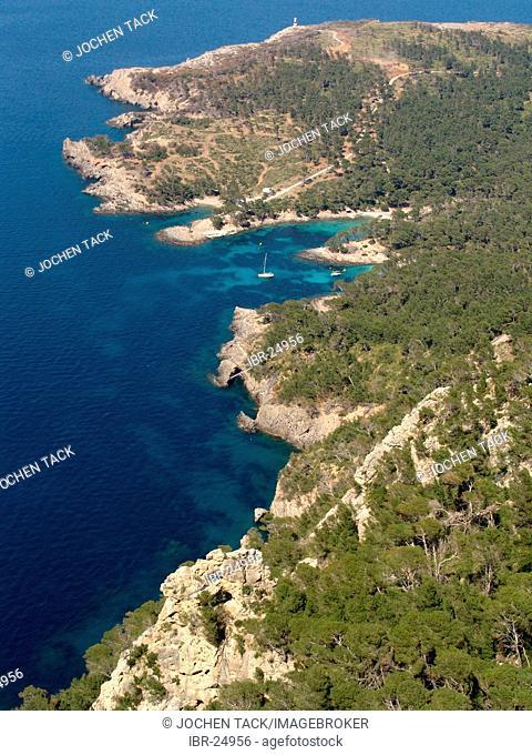 ESP, Spain, Balearic Islands, Mallorca : Peninsula Cap de Pinar between the bay of Pollenca and Alcudia