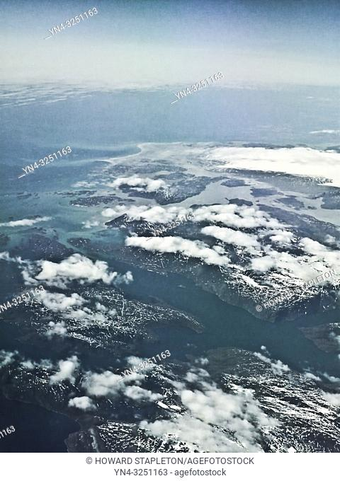 West coast of Greenland from 40,000 feet