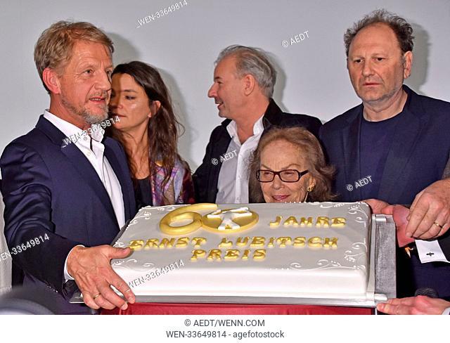 60th anniversary 'Ernst-Lubitsch-Award 2018 to Charly Huebner' at cinema Babylon. Featuring: Soenke Wortmann, Katja von Garnier, Nicola Lubitsch