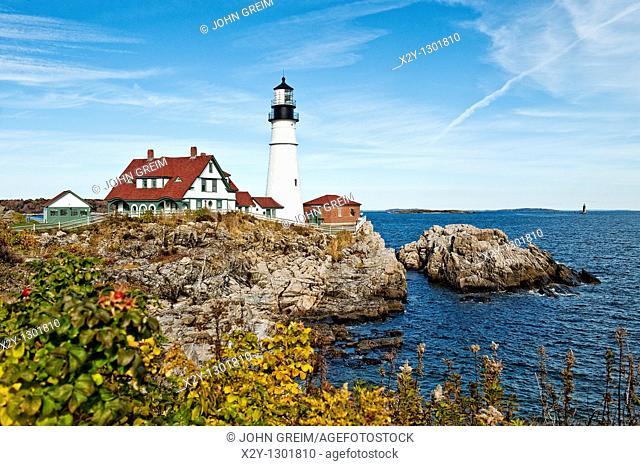 Portland Head Light Station, Cape Elizabeth, Maine, USA  Est  1791