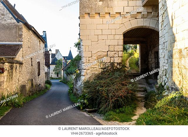 Remains of Fortifications and Covered Walkway in the Porte-Bigot Street at Crissay-sur-Manse, Labeled The Most Beautiful Villages of France