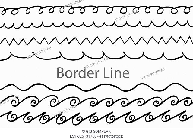 Hand draw sketch, seamless border line