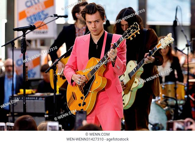 Harry Styles performs live on NBC's 'Today' show as part of the summer concert series Featuring: Harry Styles Where: New York City, New York