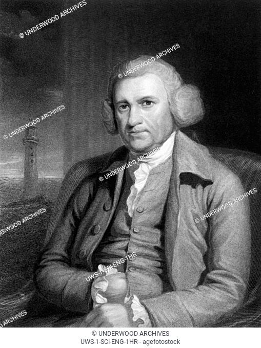 Leeds, England: c. 1785 An engraving of noted English civil engineer and physicist John Smeaton