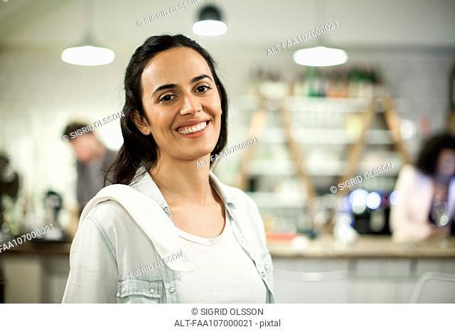 Restaurant employee, portrait