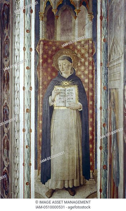 Fra Angelico Guido di Pietro/Giovanni da Fiesole c1400-55 Italian painter  'St Thomas Aquinas'  Fresco, Chapel of Nicholas V, Vatican Palace