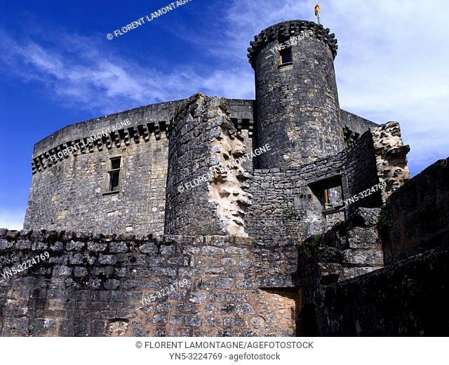 donjon, france, lot-et-garonne, chateau de bonaguil médiéval