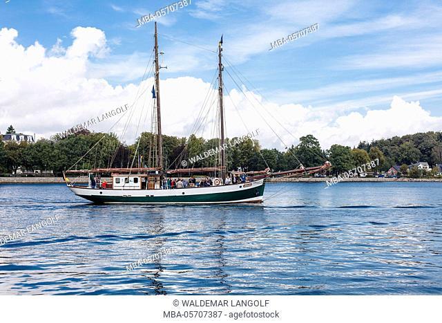 Eckernförde, harbour, sailboats