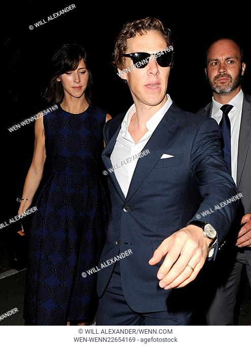 Serpentine Gallery summer party held in Kensington Gardens - Departures Featuring: Benedict Cumberbatch, Sophie Hunter Where: London