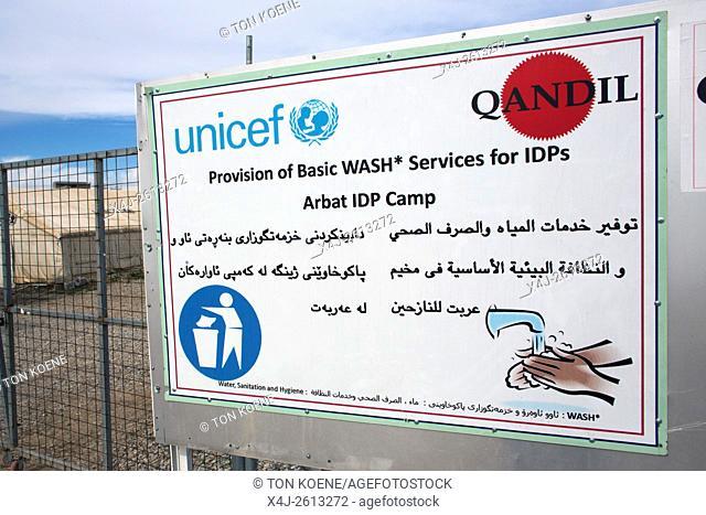 UNICEF poster in Arbat refugee camp, Northern Iraq
