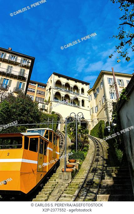 Funicular in Bergamo, Italy