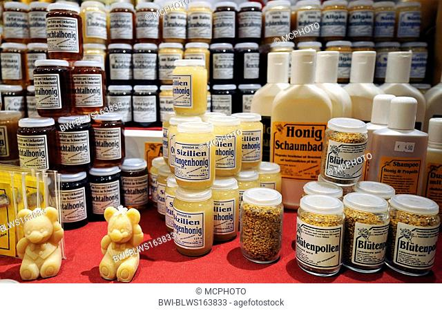 variety of honey products, Germany