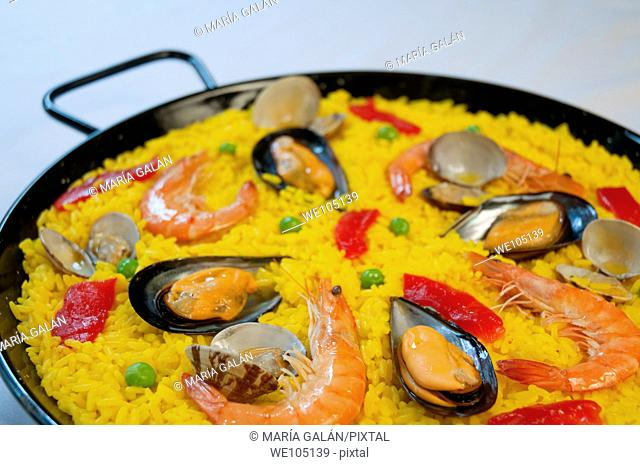 Paella, close view