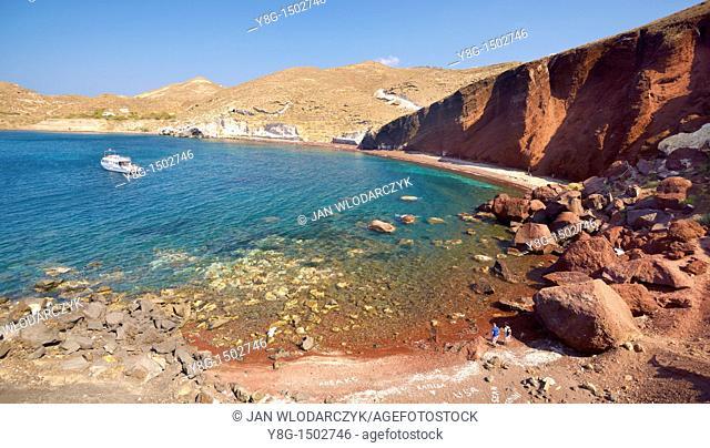 Red Beach, Santorini Island, Cyclades, Greece
