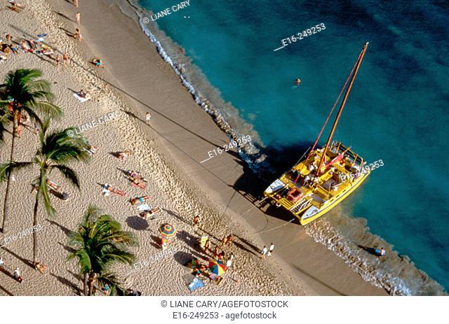 Catamaran, Waikiki Beach, Hawaii