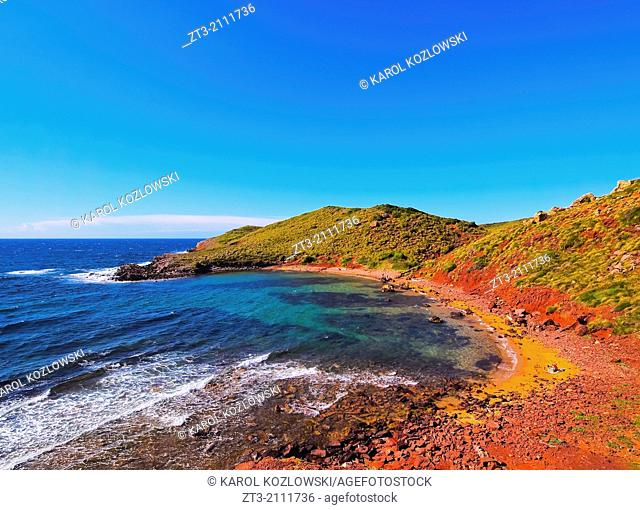 Cala Roja on Menorca, Balearic Islands, Spain