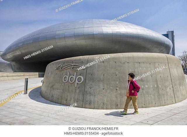 South Korea, Seoul, Jung-gu district, the Dongdaemun Design Plaza, also called the DDP, by the architect Zaha Hadid, is a major urban development landmark...