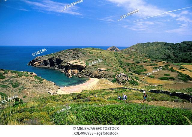 Beach or Cala Calderer  Minorca  Balearis islands  Spain