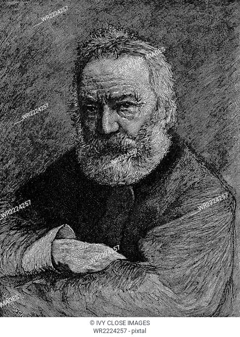 This portrait of Victor Hugo (1802-1885) was done by Bastien Le Page, a 19th-century French naturalist painter who was associated with the Realistic movement