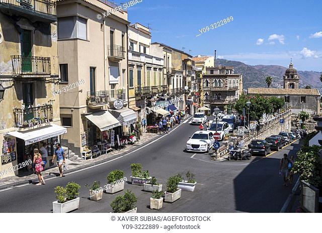 San Pancrazio square, Taormina, Sicily, Italy