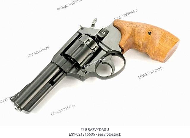 gun with wooden handle