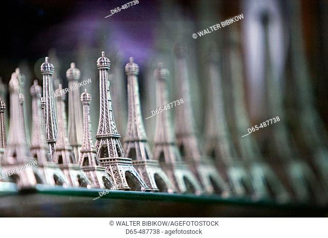 Eiffel Tower Miniatures. Eiffel Tower Area. Paris. France