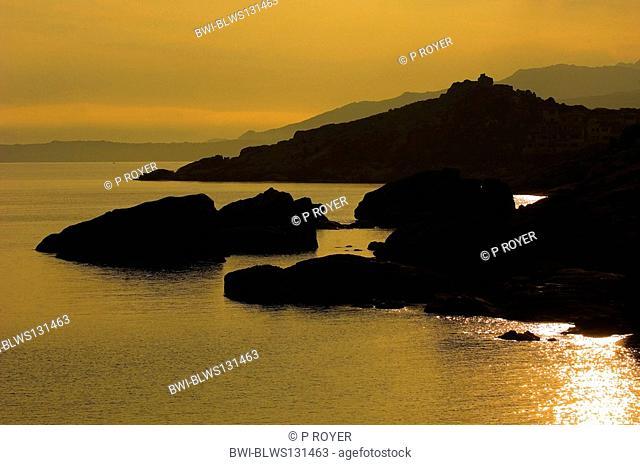 coast near Calvi town in the morning, France