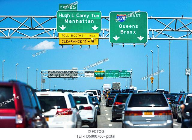 USA, New York State, New York City, Brooklyn and Queens, Car traffic