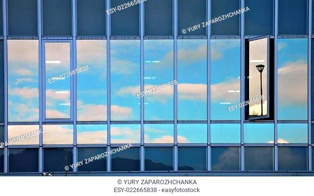 abstract sky reflection