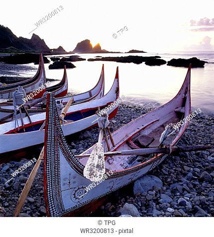 Lanyu; Lanyu Dongqing Bay;Puzzle boat