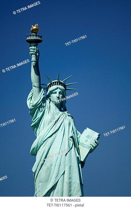 Closeup of Statue of Liberty New York NY