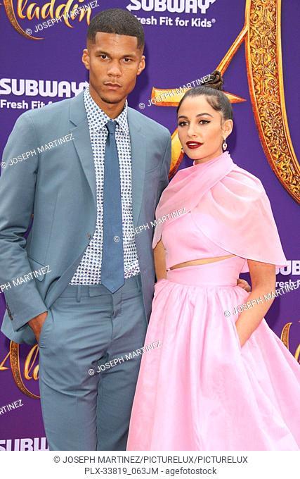 "Jordan Spence, Naomi Scott at The World Premiere of Disney's """"Aladdin"""" held at El Capitan Theatre, Hollywood, CA, May 21, 2019"