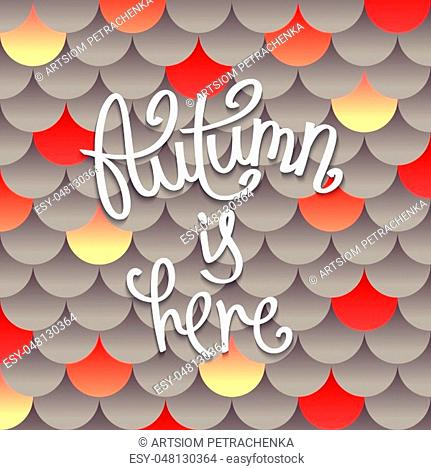 Autumn is here. Creative background. Layered pattern of circles with a volume effect. Modern vector design