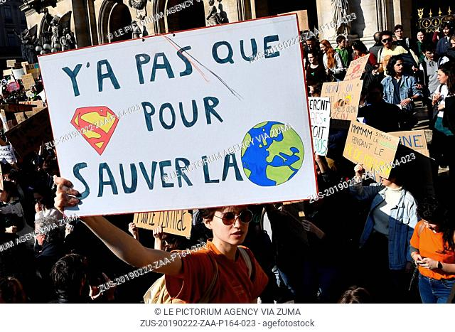 February 22, 2019 - Paris, Ile-de-France (region, France - Swedish activist Greta Thunberg, 16, a leading figure in climate change