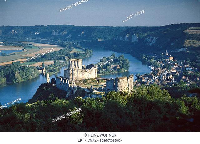 Chateau Gaillard at Seine River, Normandy, France